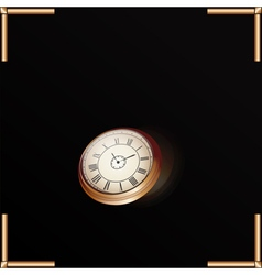 Gold Clock vector image