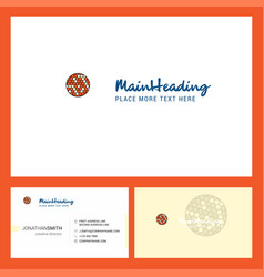 golfball logo design with tagline front and back vector image
