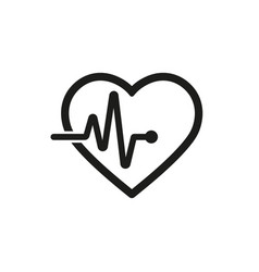 hiceartbeat icon outline vector image