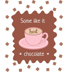hot chocolate poster vector image