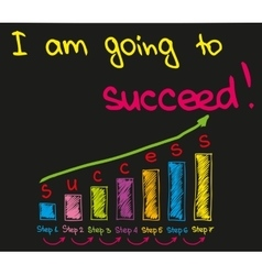I am going to succeed vector image