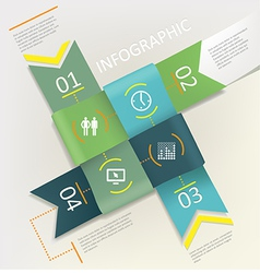 Infographic - four steps process vector
