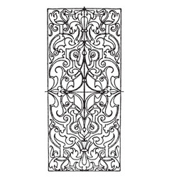 ivory inlay oblong panel is a 16th century design vector image