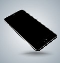 Jet black smartphone mockups like iphon vector