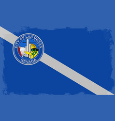 Las vegas city flag vector