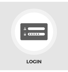 Login flat icon vector image