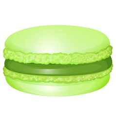 Macaron with cream inside vector