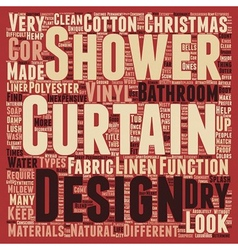 Make a splash with your shower curtains text vector image