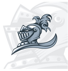 monochrome knight offer logo vector image