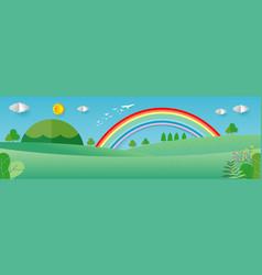 nature landscape background beautiful summer vector image