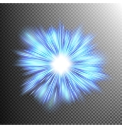 Neon blue light rays EPS 10 vector image