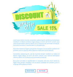 new offer discount sale spring poster text flowers vector image