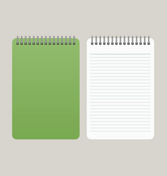 notepad with a green cover vector image
