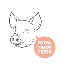 Pig logo design template vector