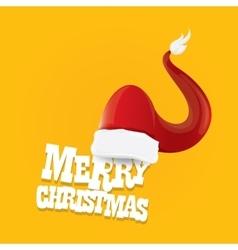 Red Santa hat merry christmas card vector