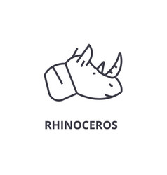 rhinoceros line icon outline sign linear symbol vector image