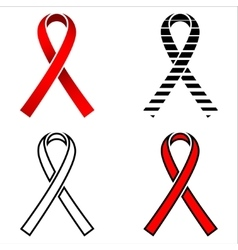 Ribbon AIDS ribbon red ribbon AIDS aquired vector image