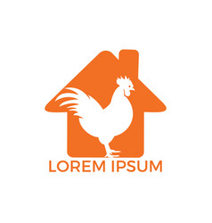rooster home logo design vector image