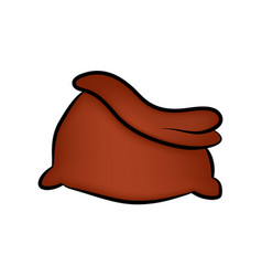 santa bag christmas empty sack icon symbol design vector image