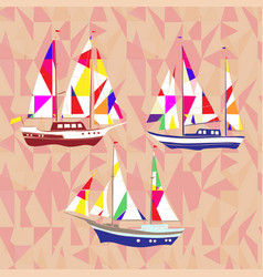 sea background with ships vector image