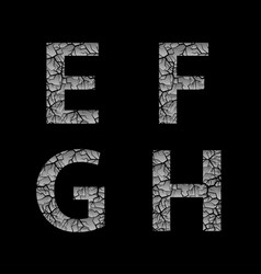 Silver broken letters vector