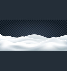 snowdrifts on transparent backdrop vector image