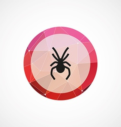 Spider circle pink triangle background icon vector