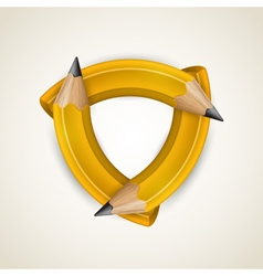 Three curved pencil - corporate symbol vector