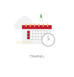 time management business planning timing concept vector image