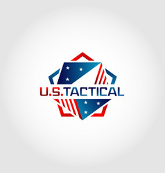 us america pentagon tactical logo design symbol vector image
