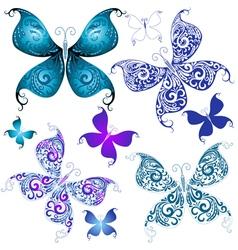 vintage butterflies vector image