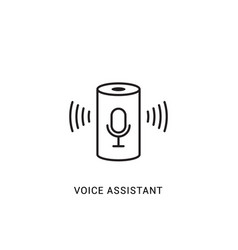 voice assistant smart icon digital vector image
