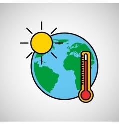 Warming global environment concept icon vector