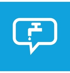 Water tap message icon vector