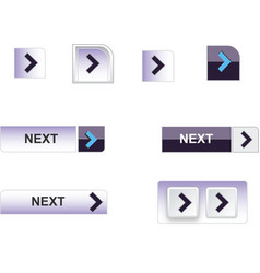web buttons blue vector image