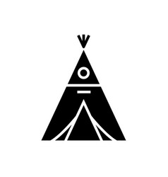 Wigwam icon black sign on vector