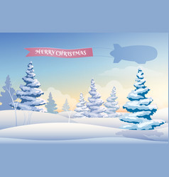 winter landscape beautiful background vector image