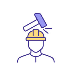 Work-related injuries rgb color icon vector