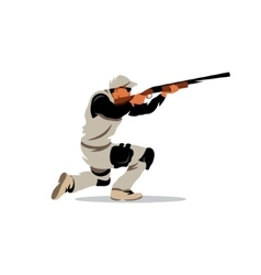 Clay Shooting Cartoon vector image