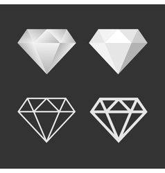 Diamond Icon And Emblem Set vector image
