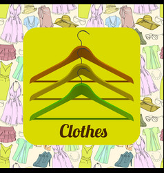 drawing set summer clothes for vector image vector image