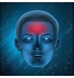 Headache concept vector image vector image