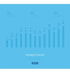 Infographic business arrow shape template design vector image vector image