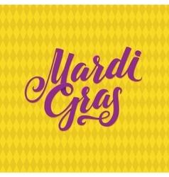 Mardi Gras Logo Calligraphic Poster vector image vector image