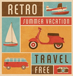 Summer travel vector