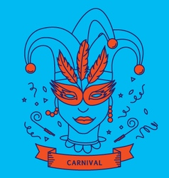 CARNIVAL COSTUME OUTFIT vector image vector image
