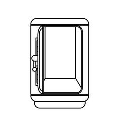 line silver metal strong box open vector image vector image