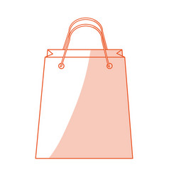 red silhouette shading image cartoon bag for vector image