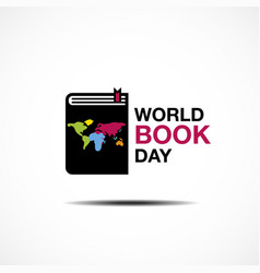 world book and copyright day logo icon design vector image vector image