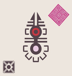 African ornamental symbol vector image vector image